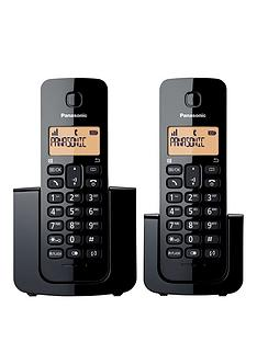 panasonic-kx-tgb112nbspdigital-cordless-phone-twin-handsets-black