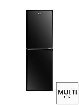 swan-sr8160b-172cm-high-55cm-wide-5050-split-fridge-freezer-black