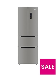 Swan French Door Side By Side Fridge Freezer - Inox