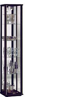 optima-glass-shelf-mirrored-back-single-display-unit-with-light-black-silver-white