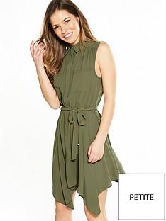 miss-selfridge-petite-hanky-hem-shirt-dress