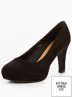 v-by-very-matilda-extra-wide-fit-platform-court-shoe-black