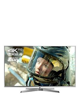 Image of Panasonic 65EX750B LED HDR 4K Ultra HD 3D Smart TV, 65 with Freeview Play/Freesat HD & Swivel Stand, Ultra HD Certified, Silver