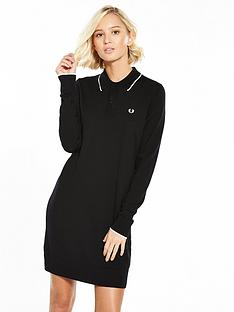 fred-perry-knitted-dress-blacknbsp