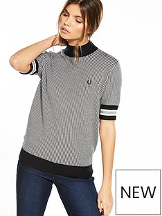 fred-perry-houndstooth-crew-neck-jumper-black