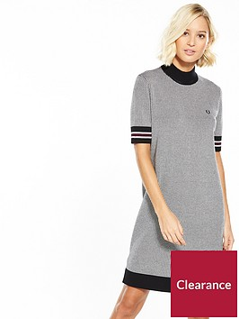 fred-perry-houndstooth-knitted-dress-blacknbsp