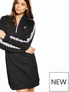 fred-perry-taped-track-dress