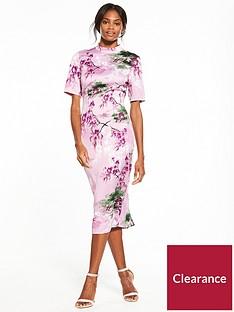 v-by-very-high-neck-printed-dress