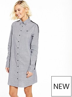 fred-perry-fred-perry-taped-houndstooth-shirt-dress