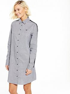 fred-perry-taped-houndstooth-shirt-dress