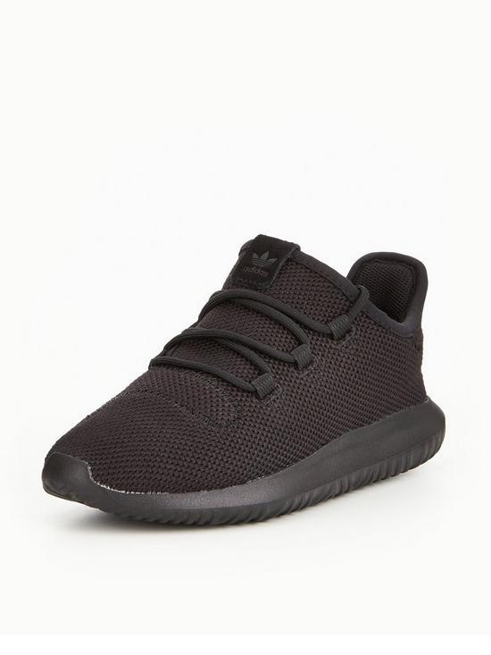 online store d19e1 5073c Tubular Shadow Childrens Trainer - Black