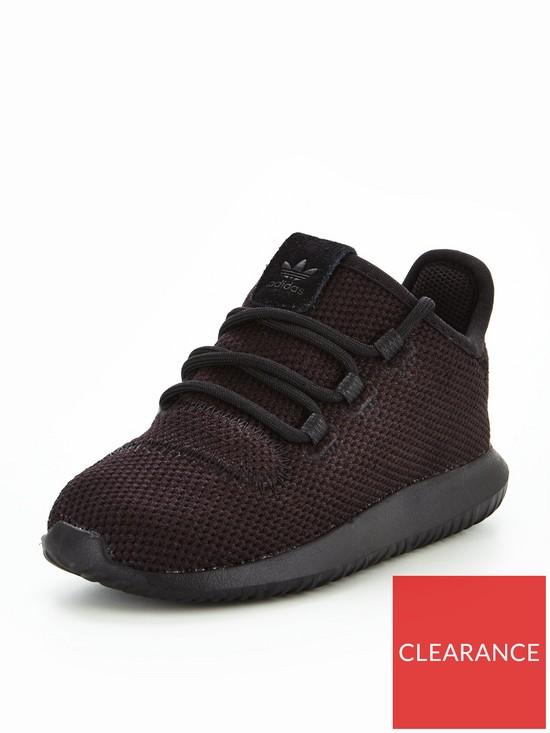 5d5df90d0b39 adidas Originals Tubular Shadow Infant Trainer - Black
