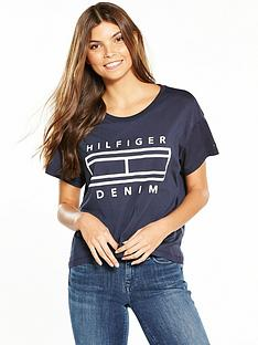 hilfiger-denim-short-sleevenbsplogo-t-shirt-total-eclipse