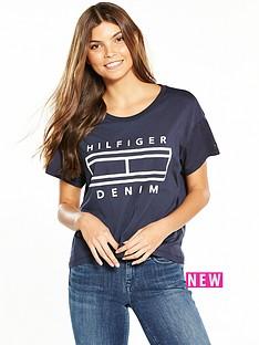 hilfiger-denim-short-sleevenbsplogo-t-shirt-total-eclipse