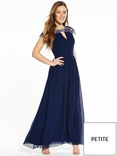 little-mistress-petite-waterlily-embellished-maxi-dress-navy