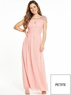 little-mistress-petite-waterlily-embellished-maxi-dress-blush