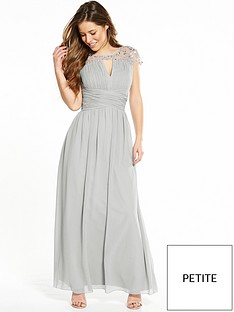 little-mistress-petite-waterlily-embellished-maxi-dress-grey