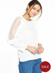 ax-paris-lace-cold-shoulder-blouse