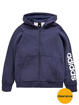 adidas-older-boys-linear-fz-hoody