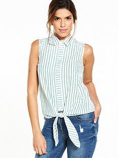 warehouse-casual-sleeveless-shirt