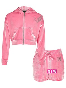 river-island-girls-pink-velour-hoodie-and-shorts-outfit