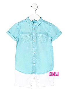 river-island-mini-boys-blue-shirt-and-denim-shorts-outfit