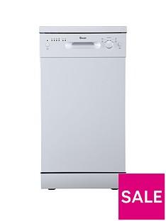Swan SDW7050W 9 Place Setting Slimline Freestanding Dishwasher - White