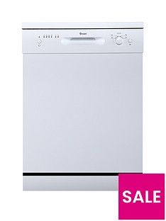 Swan SDW7080W 12-Place Setting Fullsize Freestanding Dishwasher - White Best Price, Cheapest Prices