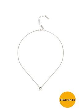 karen-millen-silver-platednbspswarovskinbspcrystalnbspflower-pendant