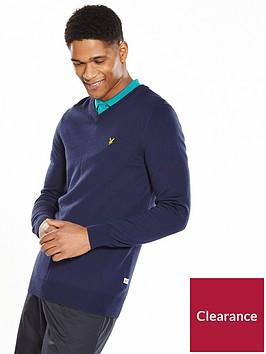 lyle-scott-lyle-amp-scott-golf-v-neck-pullover-jumper