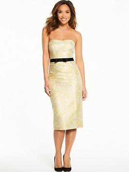 Myleene Klass Jacquard Fitted Pencil Dress