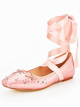 v-by-very-alicia-stud-lace-tie-ballerina-shoes-pink