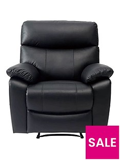 neptune-leatherfaux-leather-manual-recliner-armchair