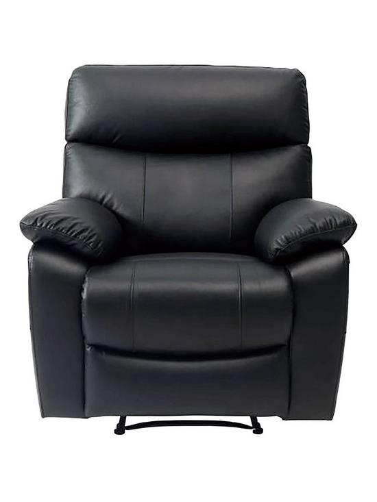 neptune leather faux leather manual recliner armchair