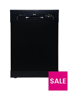 Swan SDW7080B 12-Place Fullsize Freestanding Dishwasher - Black Best Price, Cheapest Prices