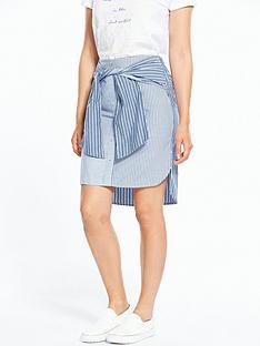 river-island-blue-stripe-skirt