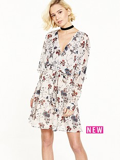 river-island-printed-tie-waisted-dress