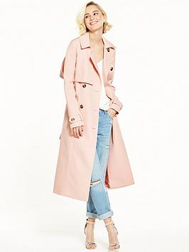 river-island-pink-trench-coa
