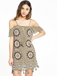 river-island-river-island-khaki-embroidered-fringe-midi-dress