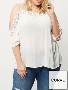 ri-plus-white-crochet-cold-shoulder-top