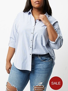 river-island-oversized-blue-stripe-shirt