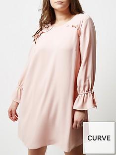 river-island-ri-plus-pink-smock-dress