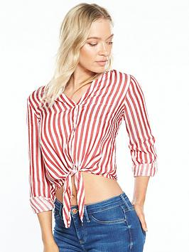 river-island-stripe-tie-front-shirt