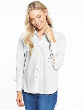 river-island-grey-stripe-poplin-shirt