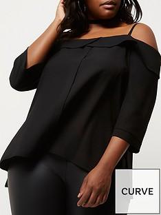 ri-plus-black-bardot-top