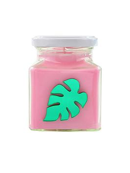 flamingo-candles-metallic-green-palm-leaf-candle