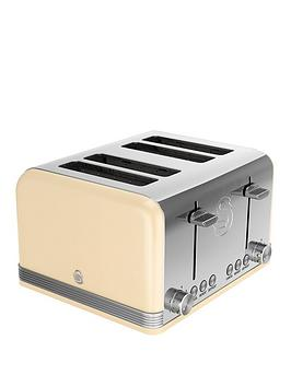 swan-st19020cn-4-slice-retro-toaster-cream