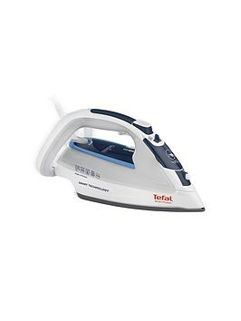 Tefal Fv4970 Smart Protect Steam Iron, 2500W - White