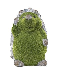 paroh-hedgehog-flocked-garden-ornament