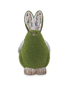 paroh-rabbit-flocked-garden-ornament